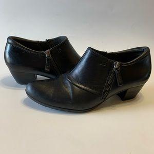 Josef Seibel black leather ankle booties